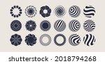 flower icon set. 3d geometric... | Shutterstock .eps vector #2018794268