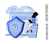 general data protection... | Shutterstock .eps vector #2018794382
