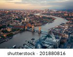 london city streets and river... | Shutterstock . vector #201880816