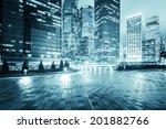 modern office buildings in... | Shutterstock . vector #201882766