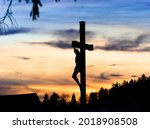 Statue Of Crucified Jesus...