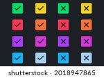 set of colorful tick and cross...   Shutterstock .eps vector #2018947865