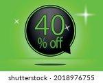 40 percent off black balloon... | Shutterstock .eps vector #2018976755
