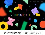 vector landing page with...   Shutterstock .eps vector #2018981228