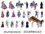 medieval characters isometric... | Shutterstock .eps vector #2018984165