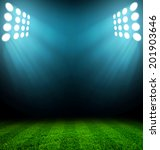 stadium lights at night and... | Shutterstock . vector #201903646