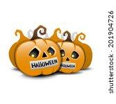 vector. halloween pumpkins. | Shutterstock .eps vector #201904726