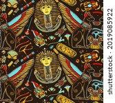 ancient egypt seamless pattern. ...   Shutterstock .eps vector #2019085922
