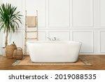 bathroom in japandi interior...   Shutterstock . vector #2019088535