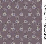 pattern with flower | Shutterstock .eps vector #201910672
