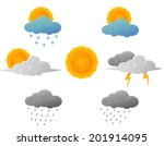 weather icons design | Shutterstock .eps vector #201914095