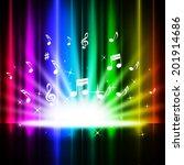 rainbow curtains background... | Shutterstock . vector #201914686