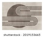 trendy contemporary abstract... | Shutterstock .eps vector #2019153665
