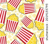 popcorn pattern seamless.... | Shutterstock .eps vector #2019155795