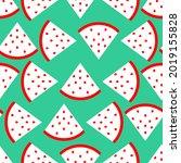 slice of watermelon pattern... | Shutterstock .eps vector #2019155828