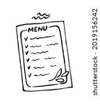 vector hand drawn menu... | Shutterstock .eps vector #2019156242