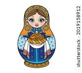 russian traditional nest doll... | Shutterstock .eps vector #2019158912