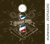 barbershop logo  poster or... | Shutterstock .eps vector #2019162242