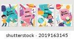 back to school vector banners.... | Shutterstock .eps vector #2019163145