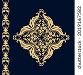 damask graphic ornament. floral ... | Shutterstock .eps vector #2019167582