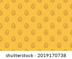 egg icon vector. egg pattern... | Shutterstock .eps vector #2019170738