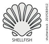 the shellfish icon with the...   Shutterstock .eps vector #2019283412