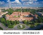 Castello Sforzesco Aerial View. ...