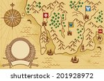 old map  | Shutterstock .eps vector #201928972