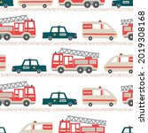 rescue vehicles seamless...   Shutterstock .eps vector #2019308168