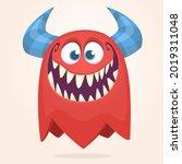 funny cartoon ghost character.... | Shutterstock .eps vector #2019311048