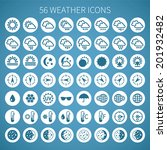 vector weather icon set for... | Shutterstock .eps vector #201932482