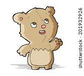 cartoon happy little teddy bear   Shutterstock . vector #201932926