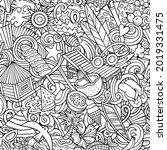 cartoon doodles summer beach...   Shutterstock .eps vector #2019331475