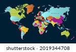 world map. color vector modern. ... | Shutterstock .eps vector #2019344708