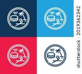 american samoan dollar blue and ... | Shutterstock .eps vector #2019362342