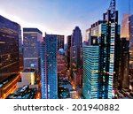 new york skyscrapers above... | Shutterstock . vector #201940882
