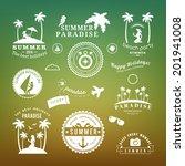 retro design elements summer... | Shutterstock .eps vector #201941008
