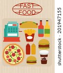 fast food party | Shutterstock .eps vector #201947155
