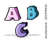 cartoon abc letters