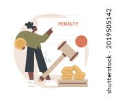 Pay Penalties Abstract Concept...