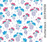 floral seamless pattern of... | Shutterstock .eps vector #201954058