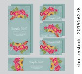 set of wedding invitations and... | Shutterstock .eps vector #201956278