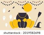 happy halloween banner or party ... | Shutterstock .eps vector #2019582698