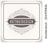 vintage design template. retro... | Shutterstock .eps vector #201959836