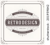 vintage design template. retro... | Shutterstock .eps vector #201959842