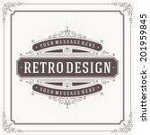vintage design template. retro... | Shutterstock .eps vector #201959845
