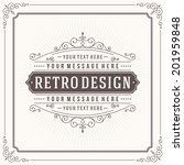 vintage design template. retro... | Shutterstock .eps vector #201959848