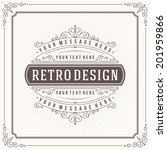 vintage design template. retro... | Shutterstock .eps vector #201959866