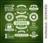 back to school vector design... | Shutterstock .eps vector #201961852