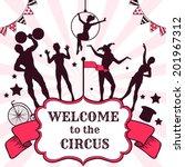 circus performance... | Shutterstock .eps vector #201967312